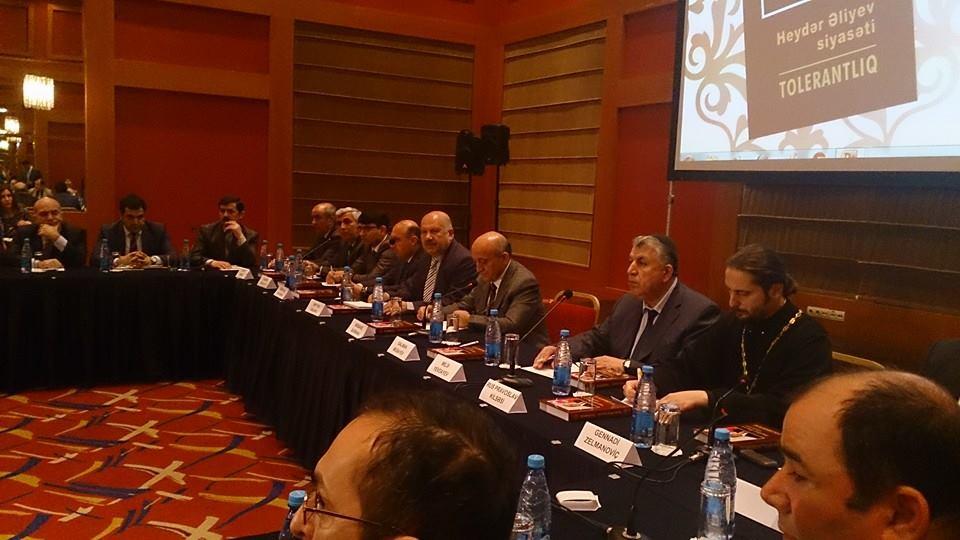 """""""Heydər Əliyev siyasəti: Tolerantlıq"""" kitabının təqdimat mərasimi keçirilib (FOTO)"""