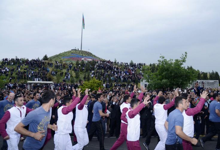 Avropa Oyunlarının məşəli cəbhə bölgəsində (FOTO)