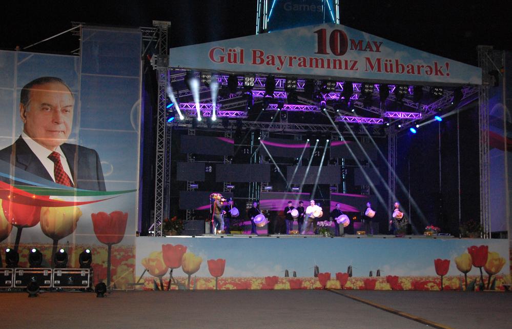Milli Parkda möhtəşəm atəşfəşanlıq olub (FOTO)