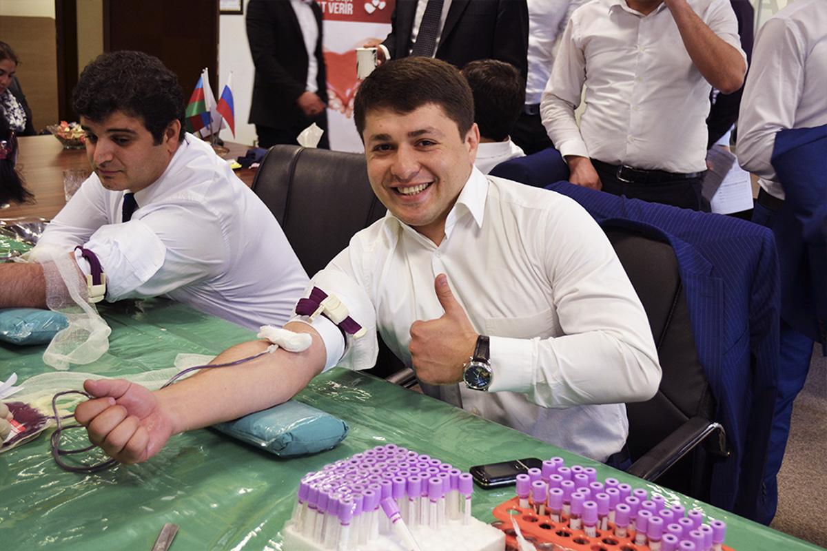 """""""Nikoil Bank"""" xeyriyyə məqsədli donor aksiyası keçirdi (FOTO)"""