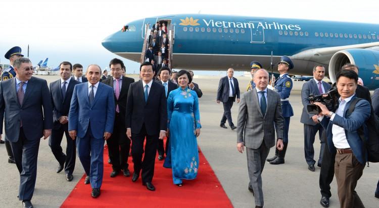 Vyetnam Prezidenti Azərbaycana rəsmi səfərə gəlib (FOTO)