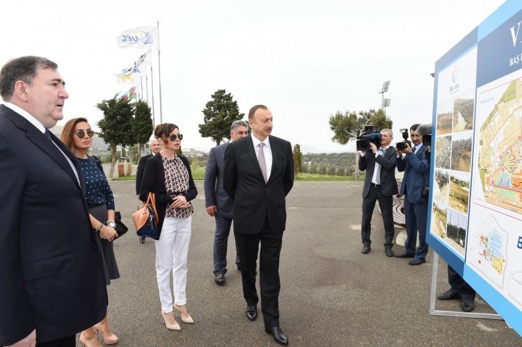 Prezident İlham Əliyev və xanımı Veloparkın açılışında iştirak ediblər (FOTO)