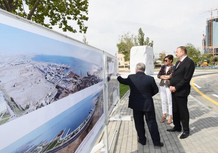 Prezident İlham Əliyev və xanımı Bakıda dənizkənarı yolun açılışında iştirak ediblər (FOTO)