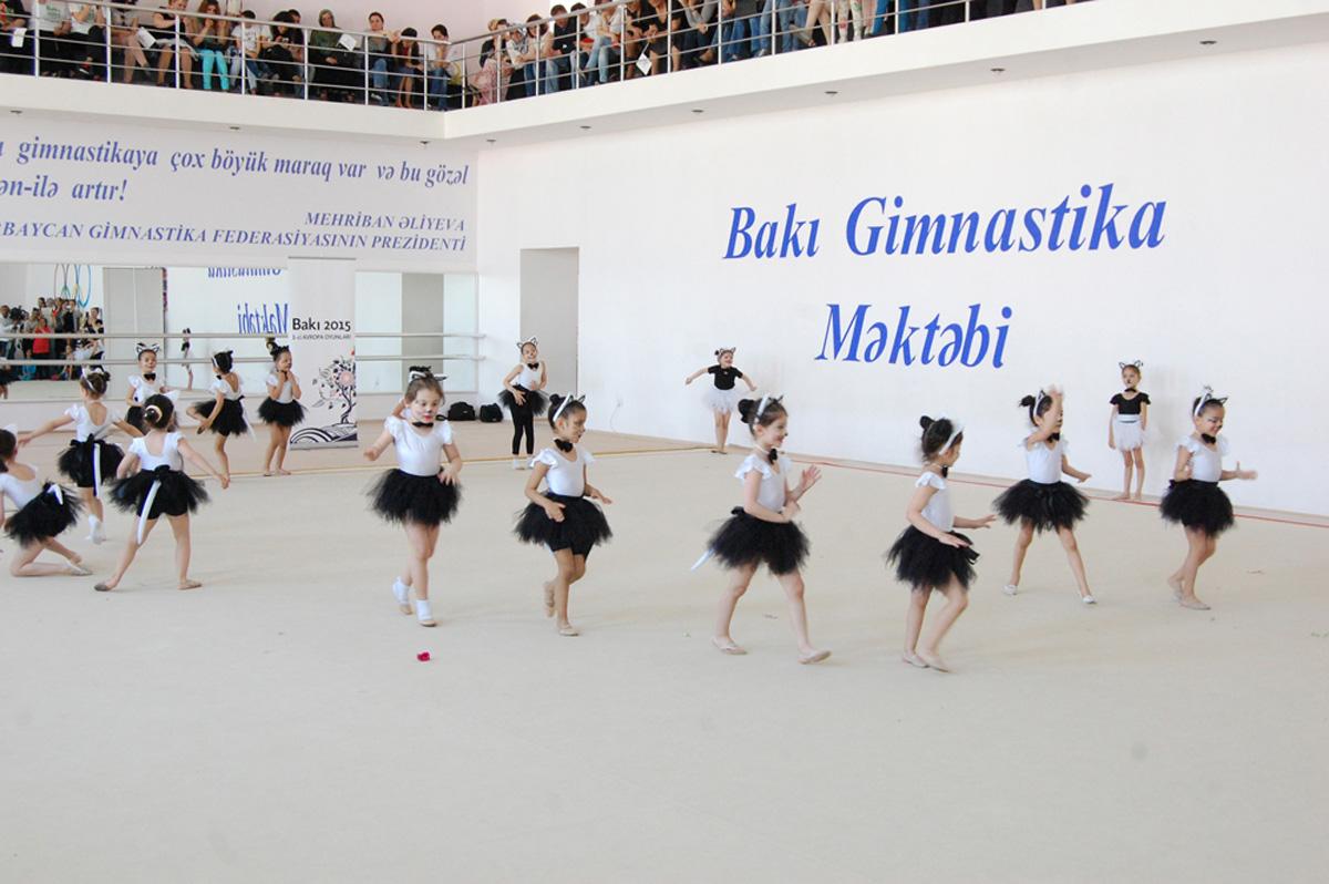 Bədii gimnastika üzrə festival yarışları keçirilib (FOTO)