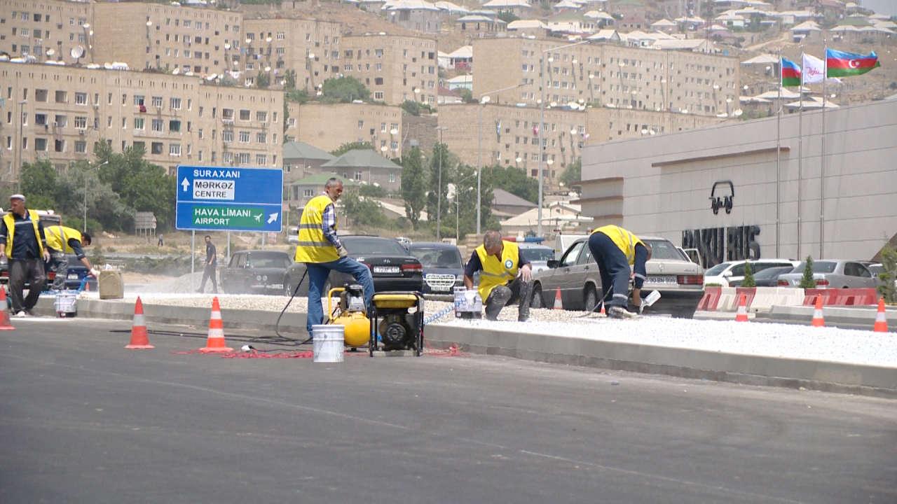 Завершается ремонт автодороги Баку-Говсан (ФОТО, ВИДЕО)