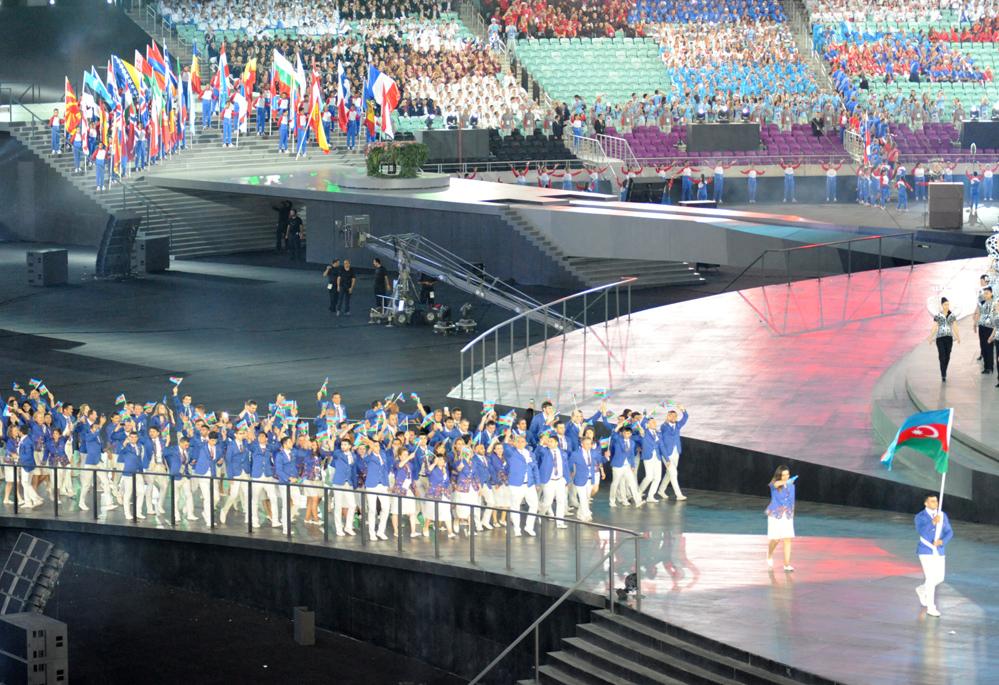 Официальная церемония открытия первых Европейских игр в Баку (ВИДЕО) (ФОТО)