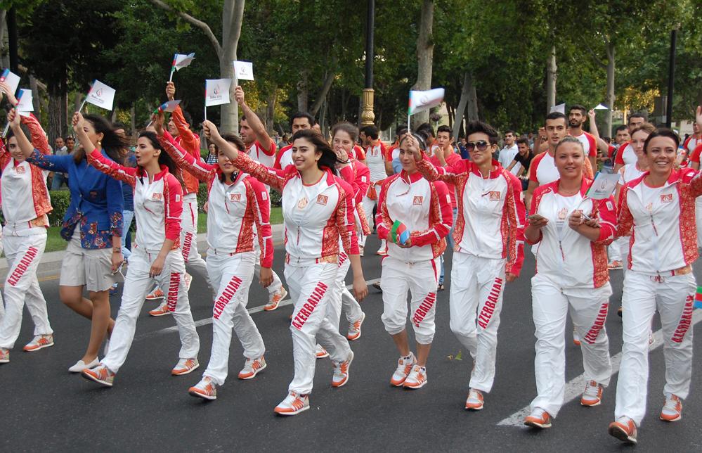 Bakıda birinci Avropa Oyunlarına həsr edilən parad və konsert keçirildi (ƏLAVƏ OLUNUB) (FOTO)