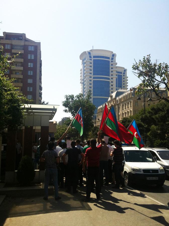 Azerbaycan'da teröre tepki yürüyüşü (Foto Haber)