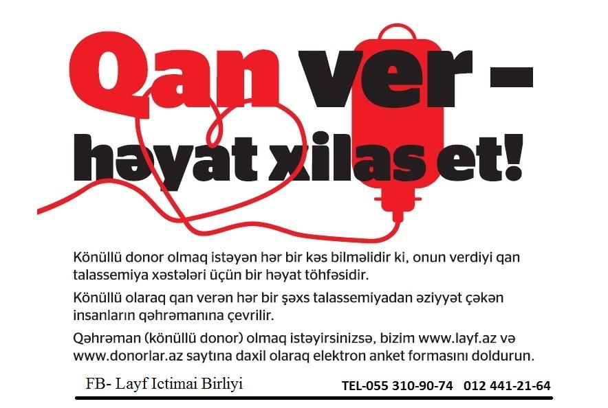 """Qan ver, həyat xilas et!"" (FOTO)"