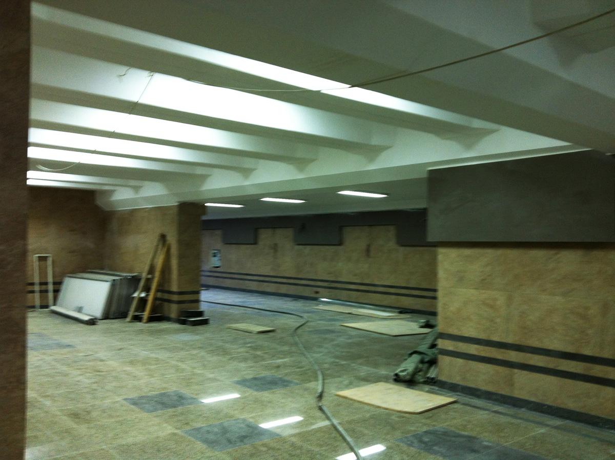 Bakıda metro stansiyanın yeni çıxışından son görüntülər (FOTO)