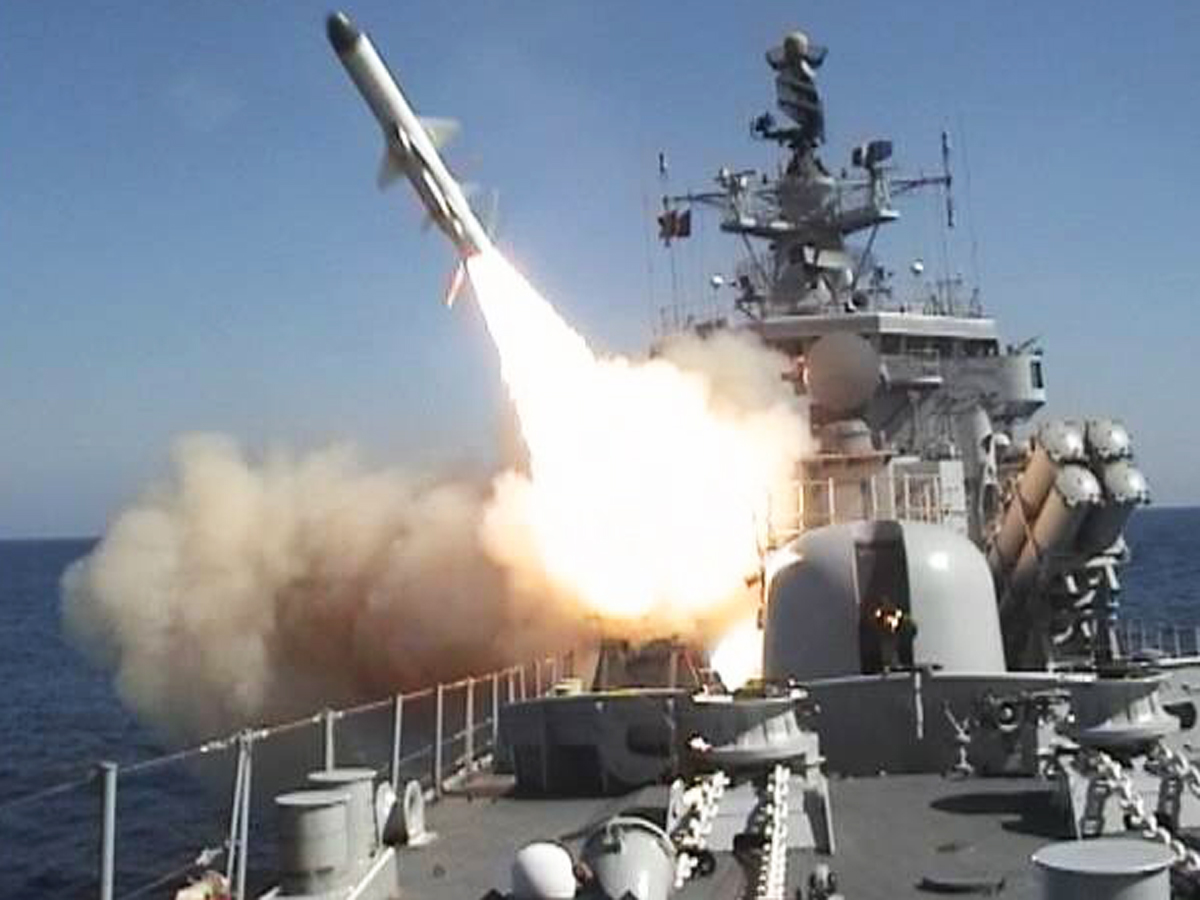 Us Officials Say Russian Missiles Heading For Syria Landed