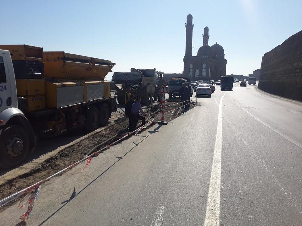 На южном въезде в Баку будет организовано двустороннее движение (ФОТО)