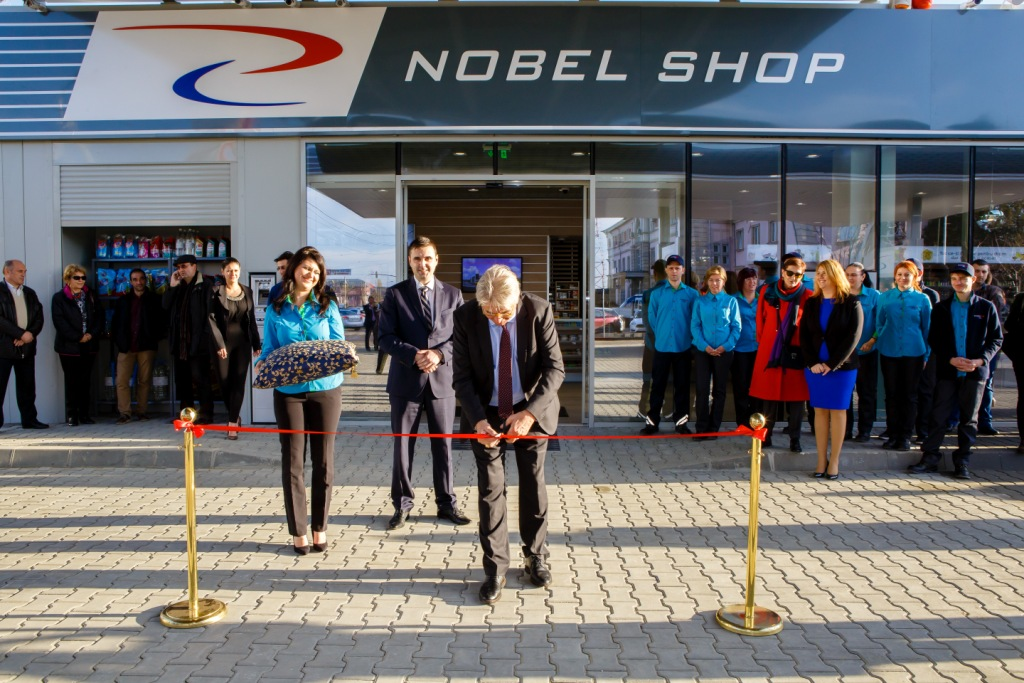 Nobel Oil opens its first filling station in Europe