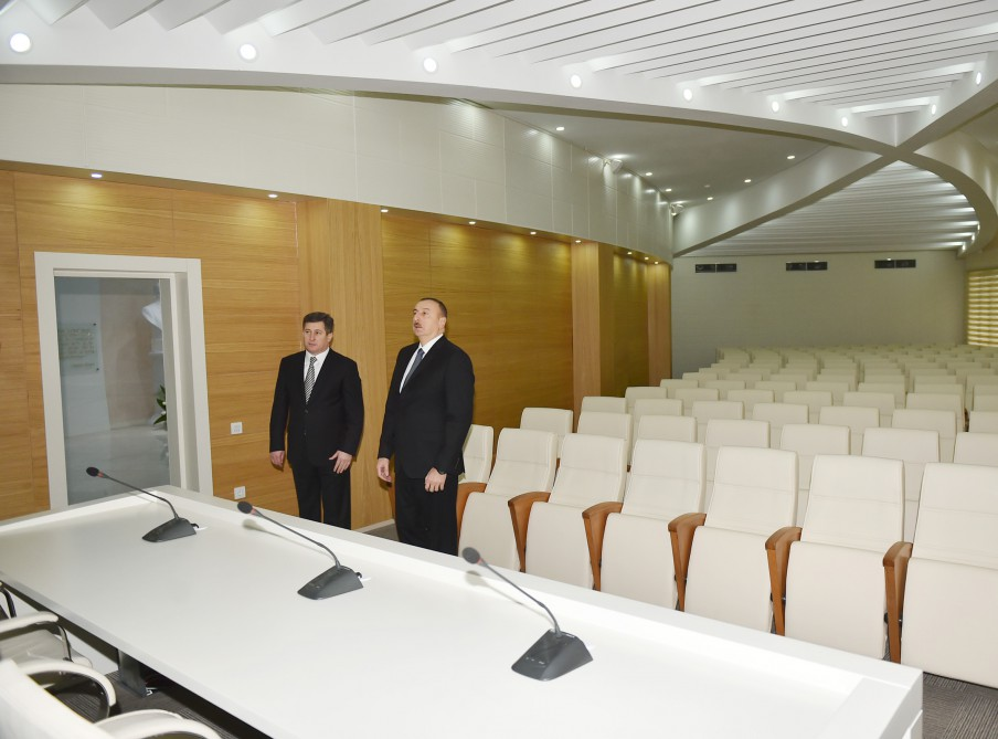 President Aliyev opens new Centre of State Committee on Property Issues