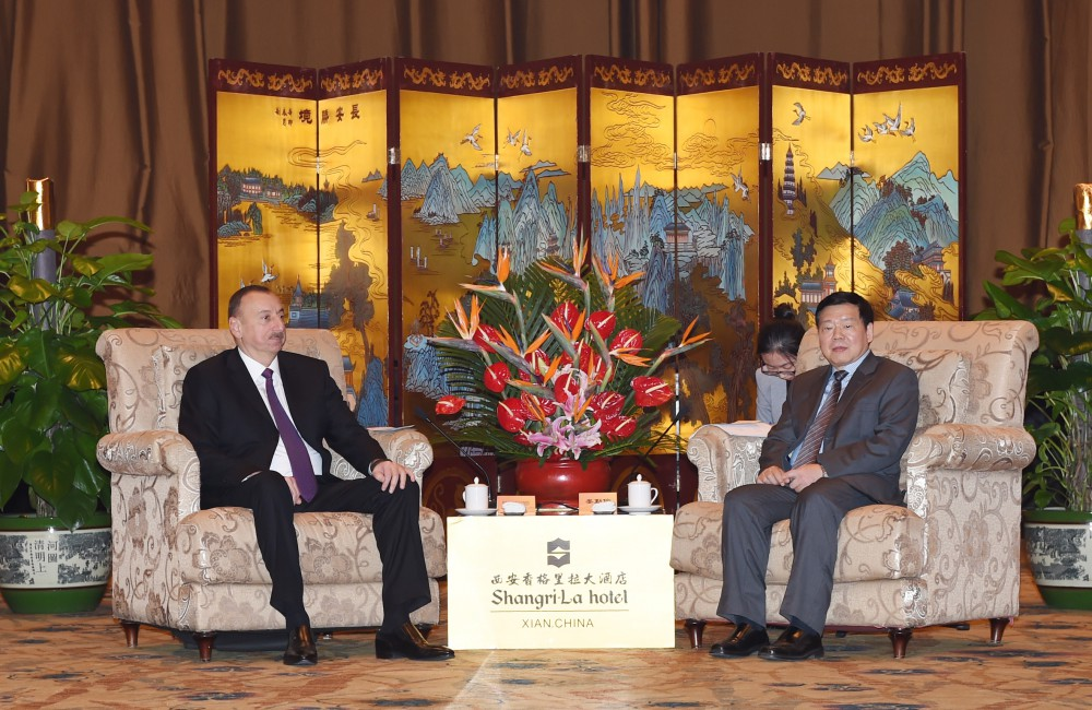 President Aliyev: Azerbaijan wants to expand co-op with China in all areas (PHOTO)