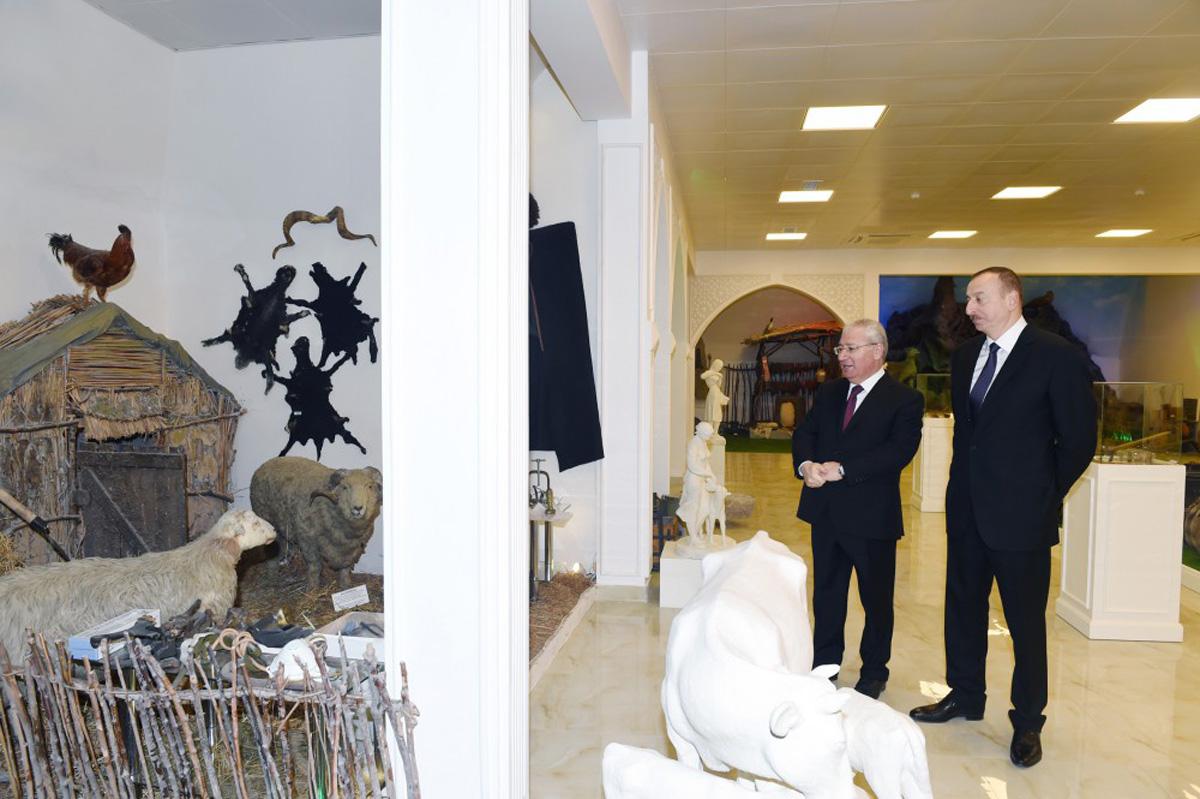 "President Aliyev attends opening of ""Veterinary town"""