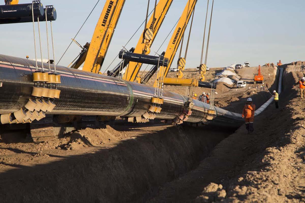 TANAP'ın inşası zor arazi ve iklim koşullarına rağmen devam ediyor (Özel Haber)
