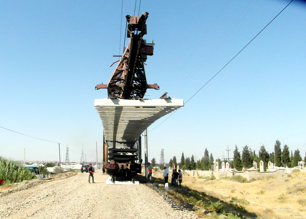 Продолжается капремонт железной дороги Баку-Беюк Кесик