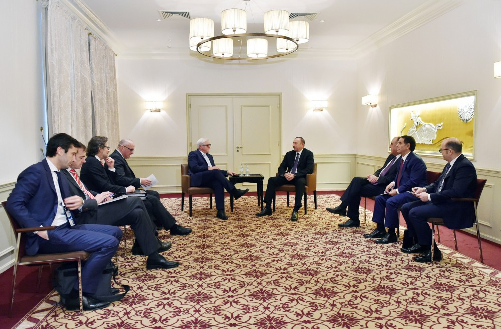 Президент Азербайджана встретился с главой МИД Германии (ФОТО)