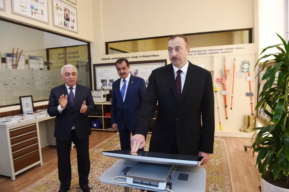 "President Aliyev attends opening of ""Nizami"" electrical substation in Ganja"