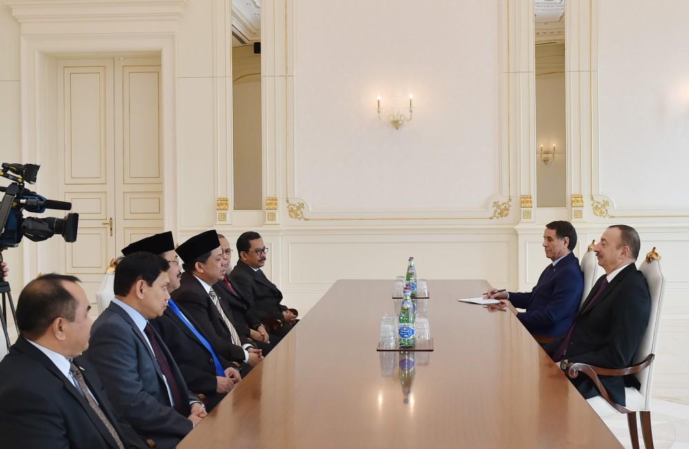 Президент Азербайджана принял парламентскую делегацию Индонезии