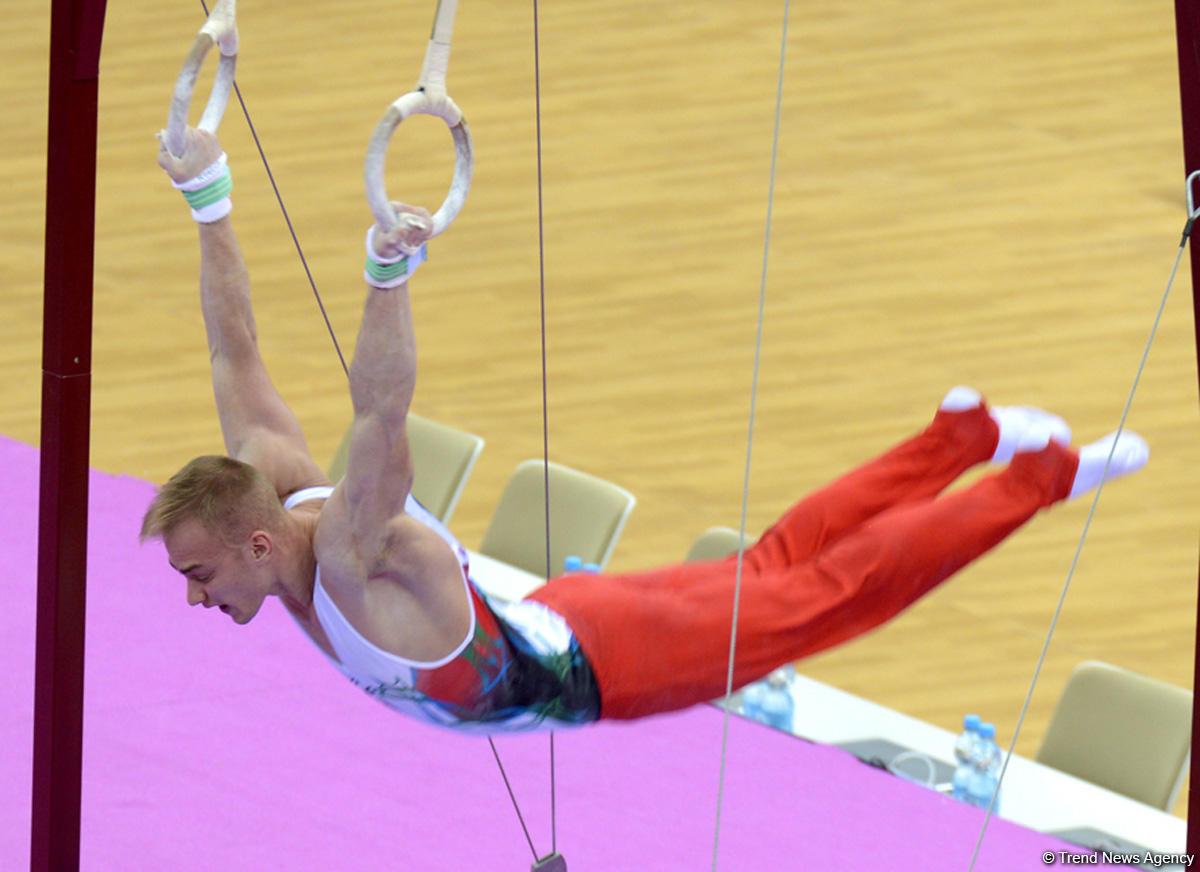 Выступления азербайджанских гимнастов в первый день Кубка мира в Баку (ФОТОРЕПОРТАЖ)