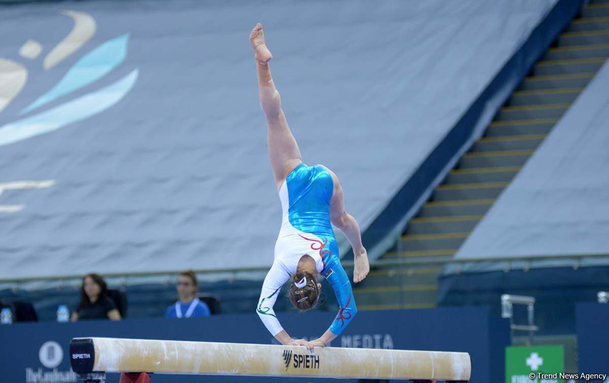 Выступления азербайджанских гимнастов во второй день Кубка мира в Баку (ФОТО)