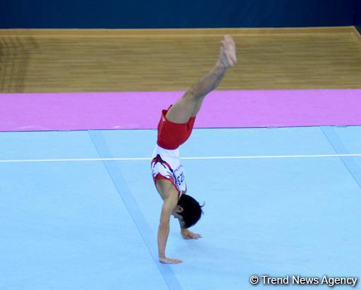 Завершающий день соревнований на Кубке мира по спортивной гимнастике в Баку (ФОТО)
