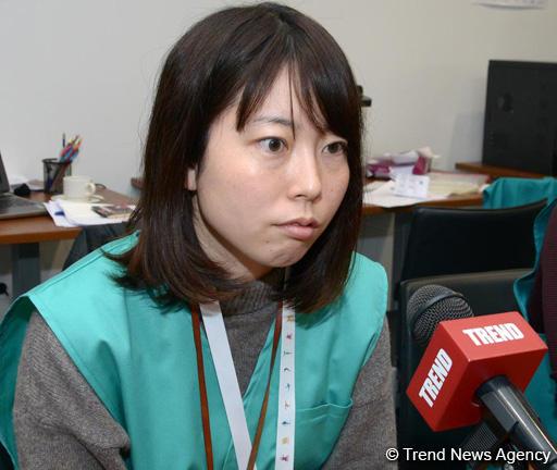 Японские журналисты в восторге от организации Кубка мира по спортивной гимнастике в Баку (ФОТО)