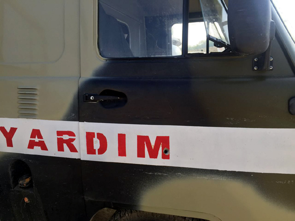 General-mayor: Düşmən tərəfindən sanitar tibb maşını atəşə tutulub