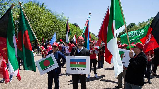 ABD'de Ermeni iddialarına karşı Türkiye'ye destek yürüyüşü düzenlendi (Foto)