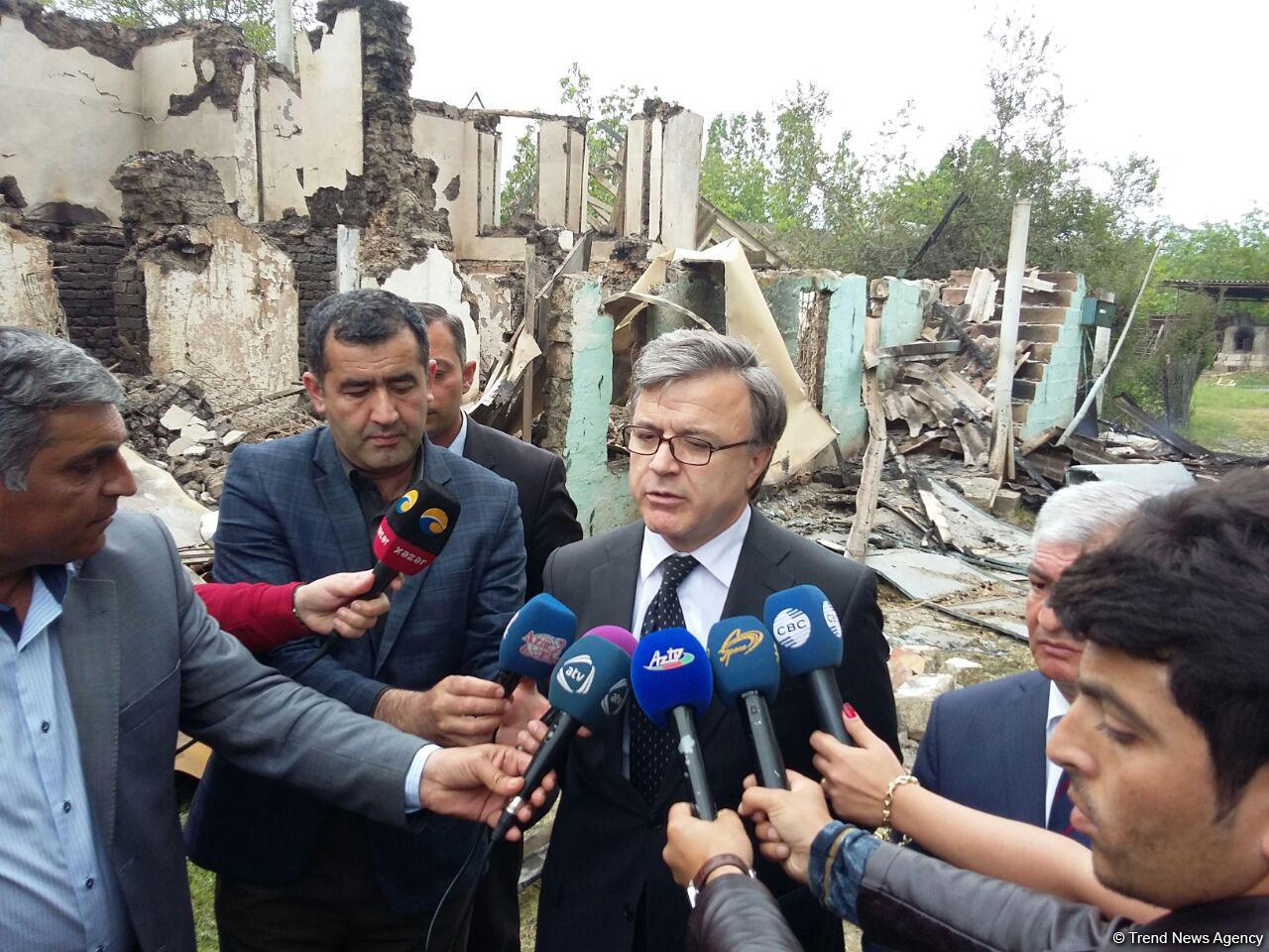 """""""Ermenistan'ın provakatif eylemleri Azerbaycan halkını yok etmeği amaçlıyor"""" (Fotoğraf)"""