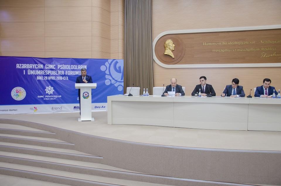 Azərbaycan Gənc Psixoloqlarının I ümumrespublika forumu keçirilib (FOTO)