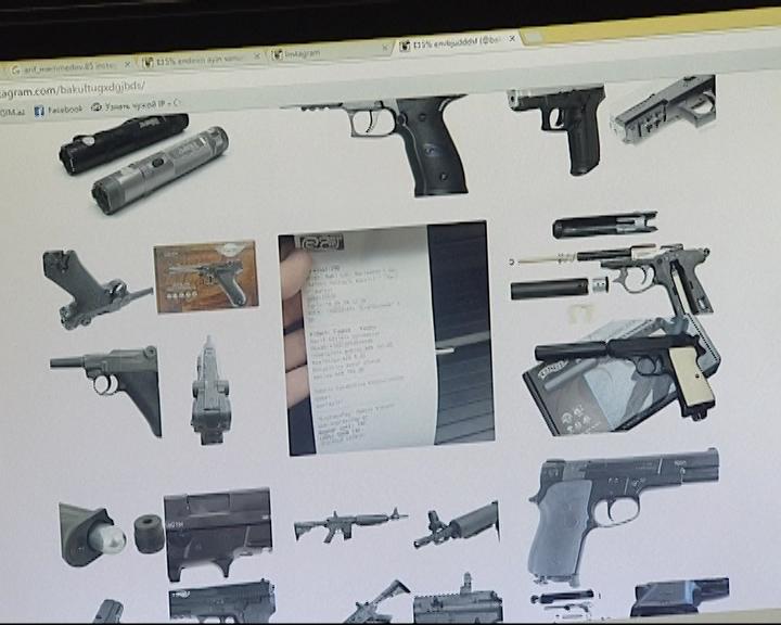 Onlayn silah satışı adı altında dələduzluq edən şəxs saxlanıldı (FOTO)
