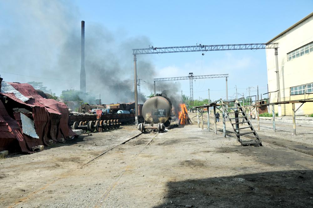 Biləcəri lokomotiv deposu ərazisində kompleks mülki müdafiə təlimi keçirilib (FOTO)