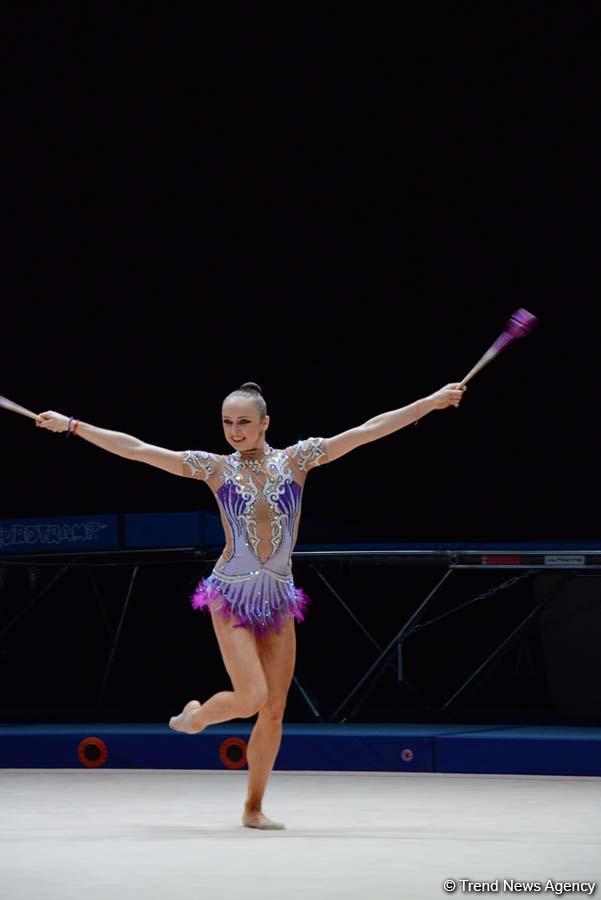 Стартовали соревнования XXIII чемпионата Азербайджана по художественной гимнастике (ФОТО)