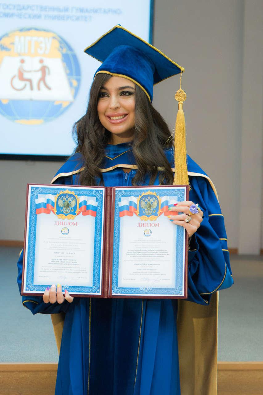Лейле Алиевой вручен диплом почетного профессора Московского государственного гуманитарно-экономического университета (ФОТО)