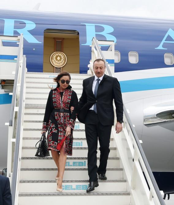 Cumhurbaşkanı İlham Aliyev ve eşi Mehriban Aliyeva Türkiye'de