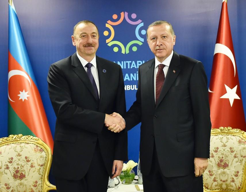 Azerbaycan ve Türkiye Cumhurbaşkanları görüştü (Fotoğraf)