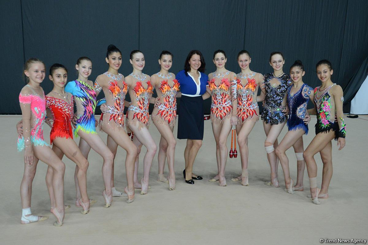 В Баку прошли контрольные тренировки и выступления гимнасток сборной Азербайджана (ФОТО)