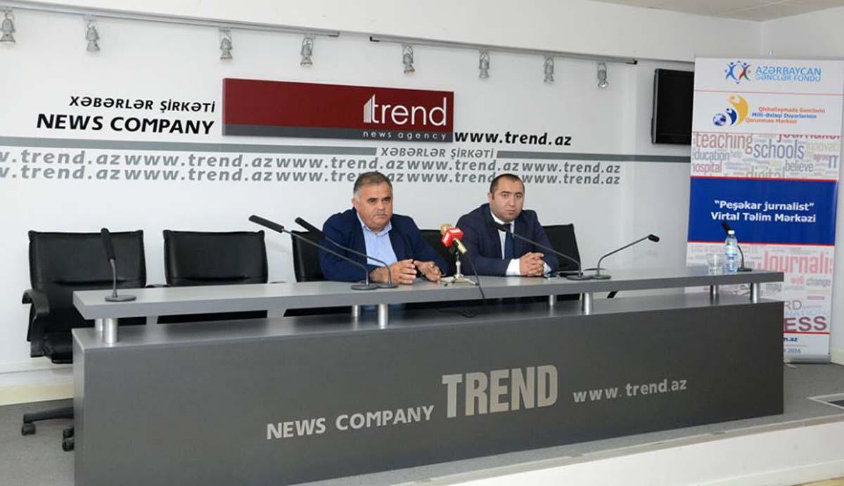 """""""Peşəkar jurnalist""""lər TRT, """"Trend"""" və """"Anadolu""""da görüş keçirdi (FOTO)"""