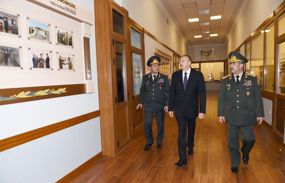 Cumhurbaşkanı Aliyev Silahlı Kuvvetler Baş Karargahı yeni binasının açılışına katıldı