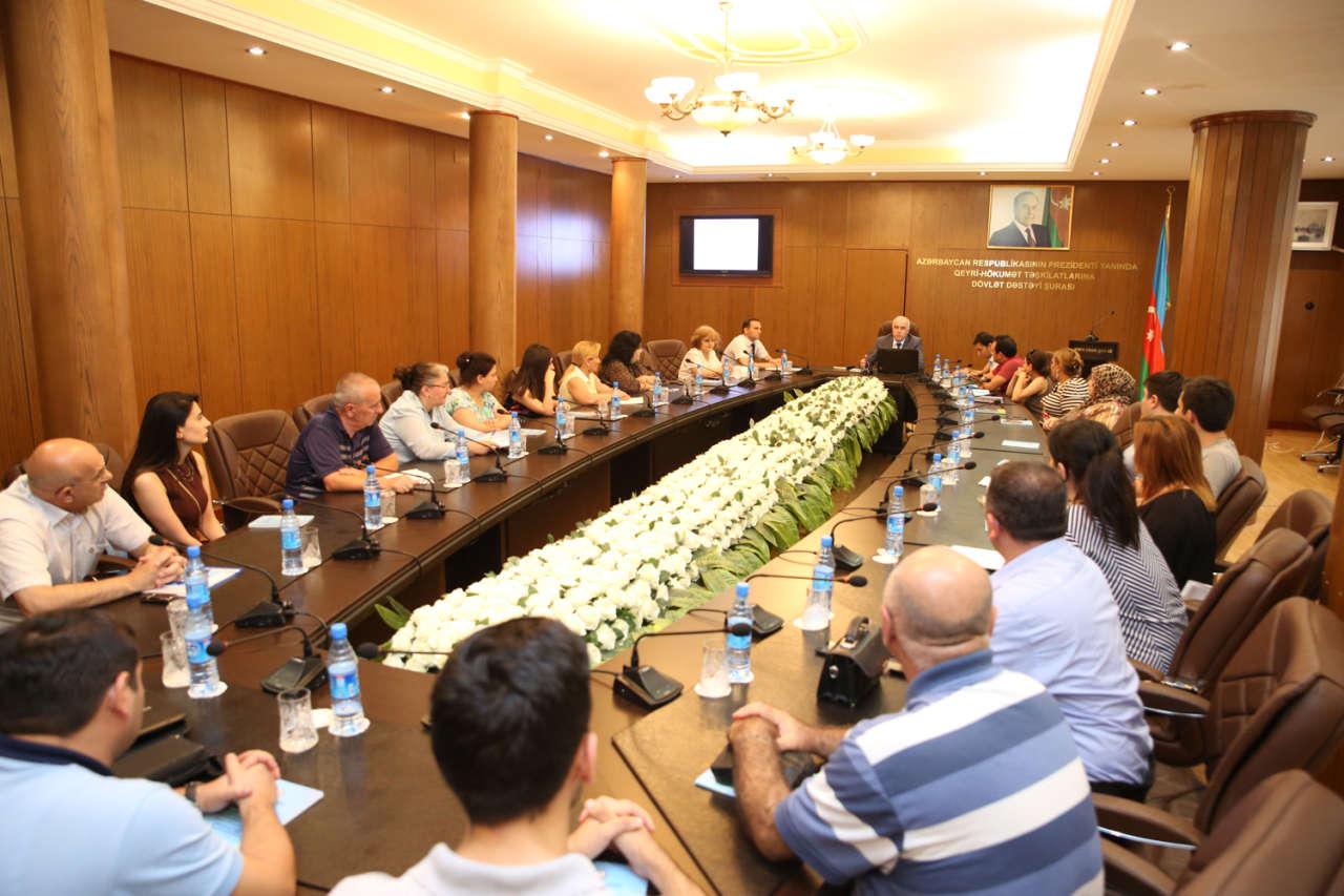 Qalib QHT-lər üçün məlumatlandırma sessiyası keçirilib (FOTO)