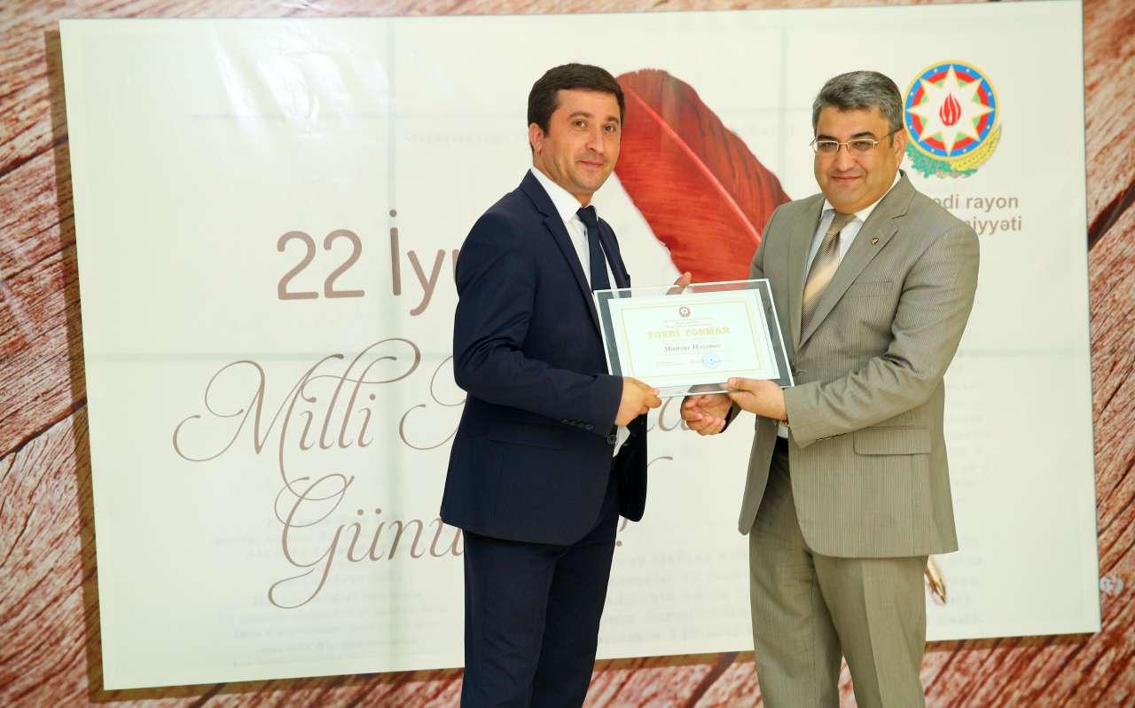 Binəqədidə 22 İyul - Milli Mətbuat Günü münasibəti ilə tədbir keçirilib (FOTO)