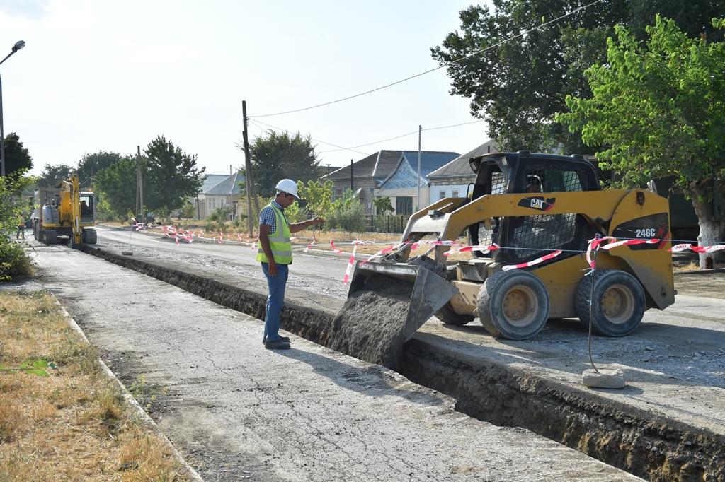 Qobustanın içməli su və kanalizasiya sistemlərinin yenidən qurulması yekunlaşır (FOTO)