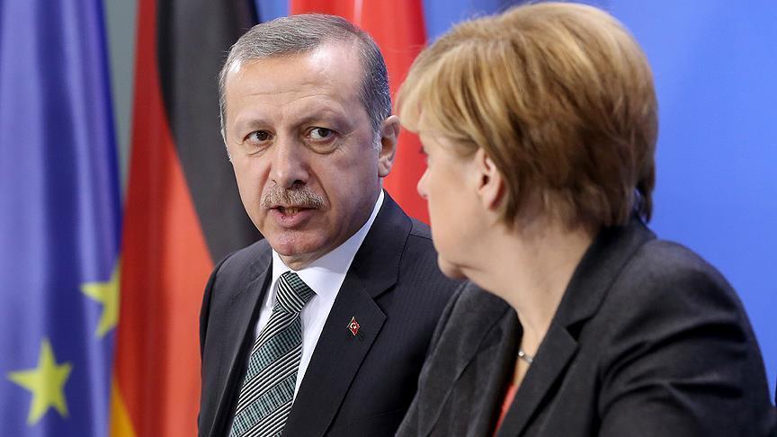 Ərdoğan və Merkel Suriyanı müzakirə ediblər