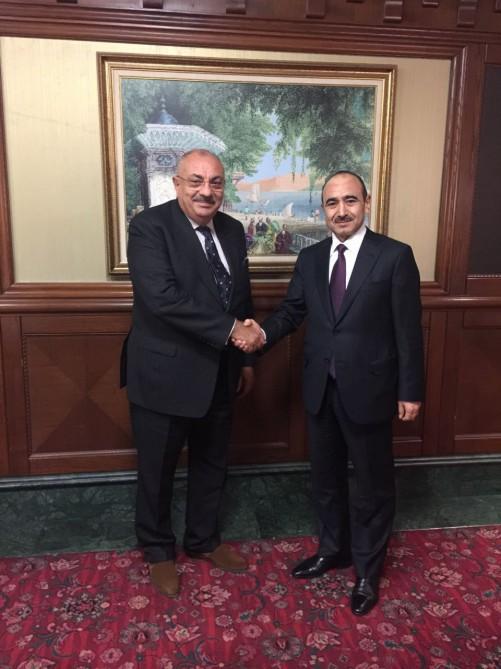 Azerbaycan Cumhurbaşkanı Yardımcısı Hasanov Kurtulmuş ve Türkeş ile bir araya geldi