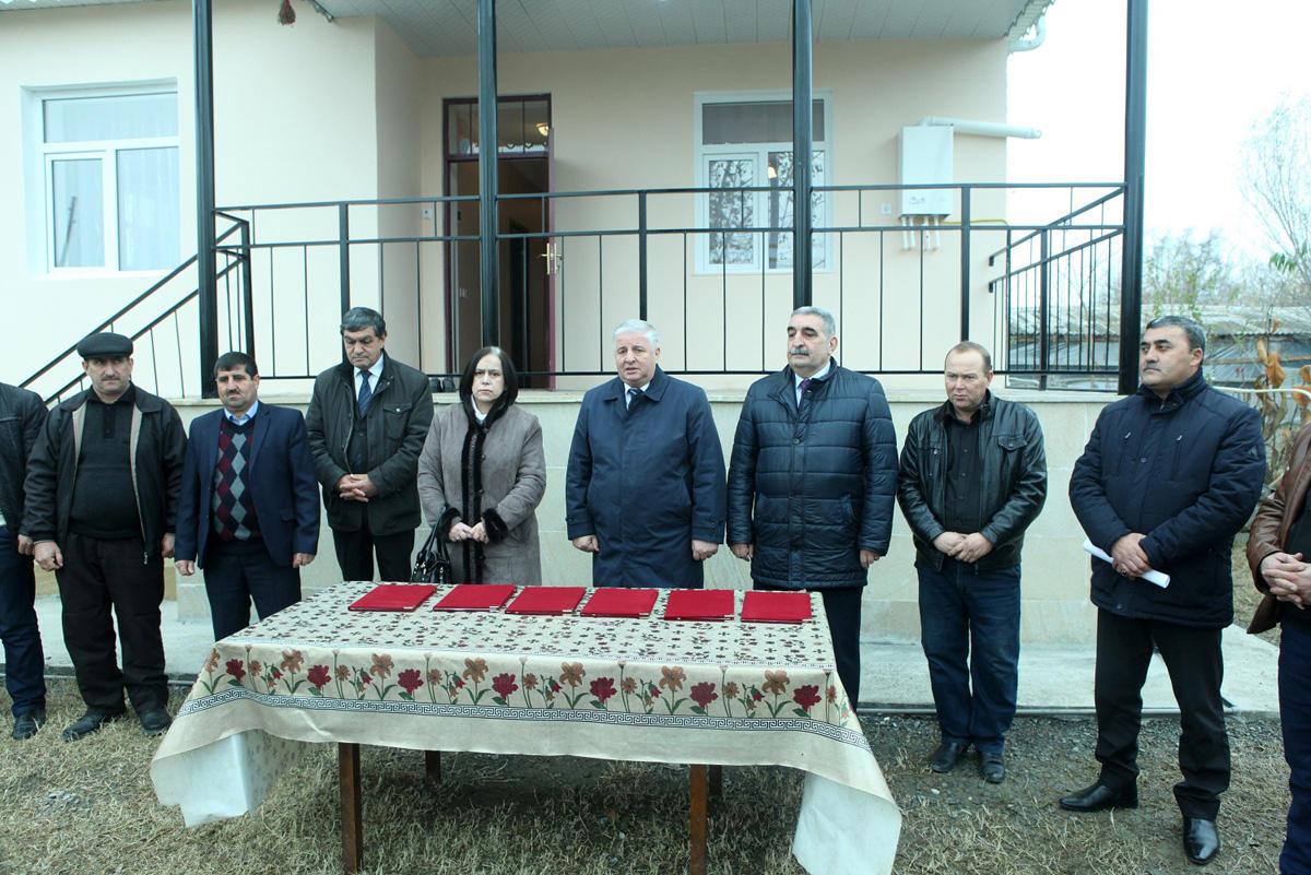 Ucarda Qarabağ müharibəsi əlillərinə 6 fərdi yaşayış evi verilib (FOTO)