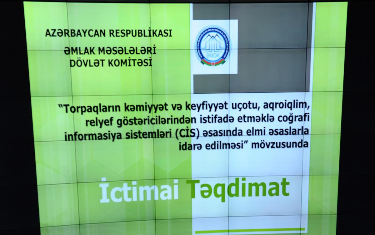 Torpaq ehtiyatlarından səmərəli istifadəyə dair təkliflər hazırlanıb (FOTO)