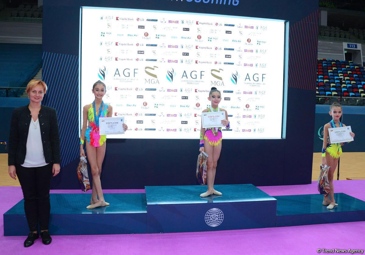 В Баку состоялась церемония награждения призеров XXIII Чемпионата и Первенства Баку по художественной гимнастике